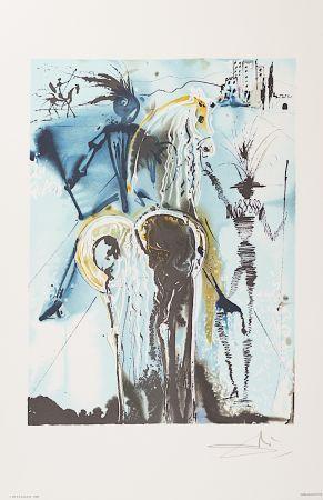 Lithographie Dali - Don Quichotte