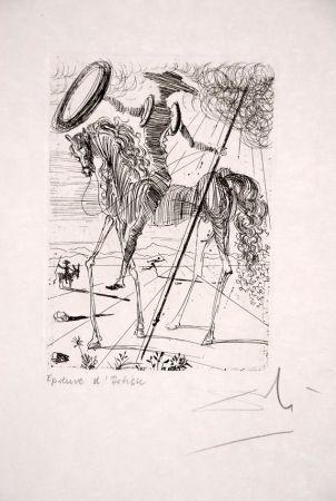 Eau-Forte Dali - Don Quichotte - Don Quixote (suite Cinq Portraits espagnols - Five Spanish Immortals)