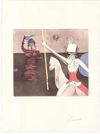 Gravure Dali - Don Quijote - après la bataille