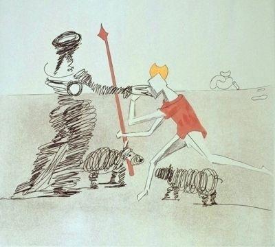 Gravure Dali - Don Quijote - Pastorale