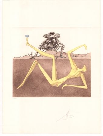 Gravure Dali - Don Quijote - the heart of madness