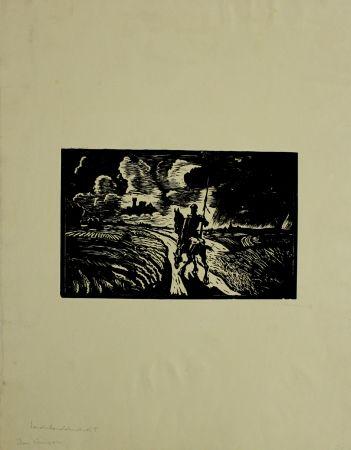 Gravure Sur Bois Klemm - Don Quixote
