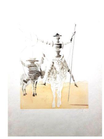 Lithographie Dali - Don Quixote et Sancho