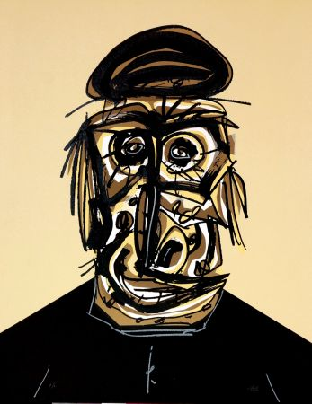 Lithographie Saura - Don, Une chaire d'ombre