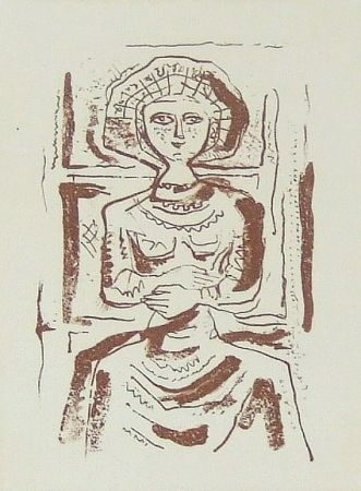 Eau-Forte Et Aquatinte Campigli - Donna