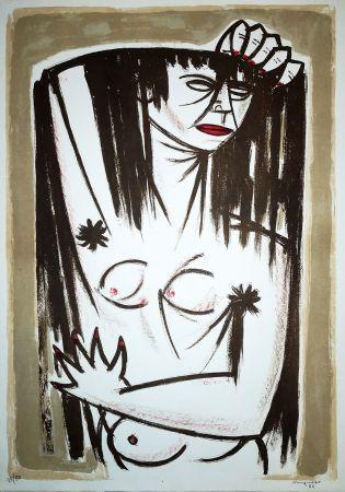 Lithographie Migneco - Donna