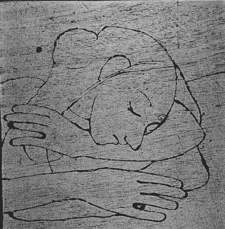 Gravure Sur Bois Casorati - Donna che si riposa