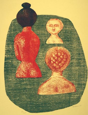 Lithographie Campigli - Donne a Ischia