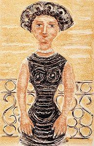 Lithographie Campigli - Donne al balcone