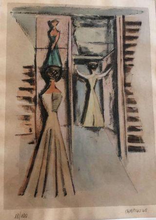 Lithographie Campigli - Donne alla finestra