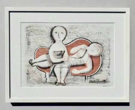 Lithographie Campigli - Donne sul divano
