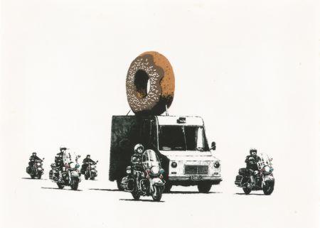 Sérigraphie Banksy - Donut (brown)