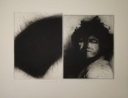 Gravure Roth - Doppelporträt oder Stirnspalt