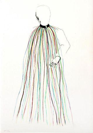 Lithographie Dine - Dorian Gray in Multi-Colored Vinyl Stripe Cape