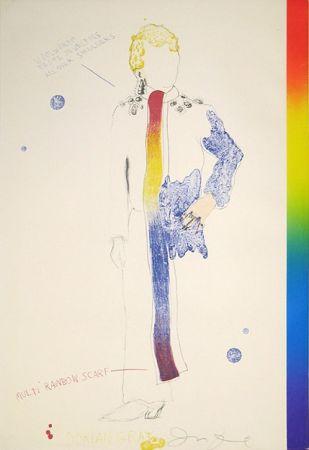 Lithographie Dine - Dorian Gray, Rainbow