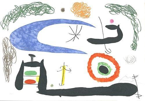 Eau-Forte Et Aquatinte Miró - Dormir sous la lune