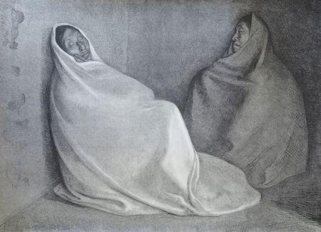 Lithographie Zuniga - Dos Mujeres Sentada