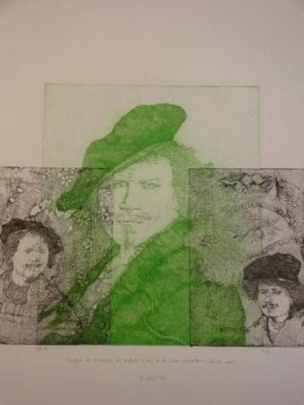 Gravure Gendre-Bergère -  Double Je. Improvisation autour d'autoportraits gravés de Rembrandt