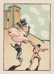 Gravure Sur Bois Hermann-Paul - Douze dessins pour amour de Goya, composés et gravés par Hermann-Paul