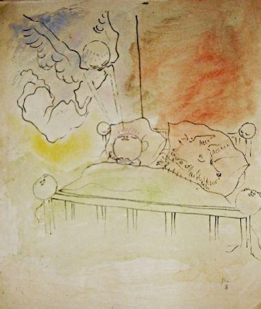 Lithographie Cocteau - Drôle de ménage