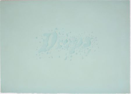 Lithographie Ruscha - Drops