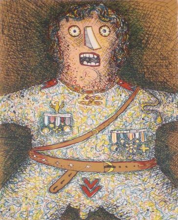 Lithographie Baj - Du Soldat