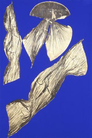 Lithographie Benglis - Dual Nature (Blue) I