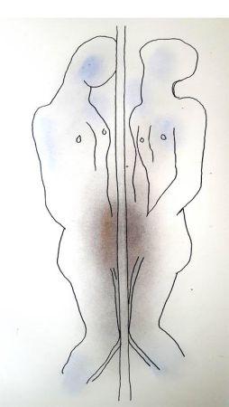 Lithographie Cocteau - Dualité