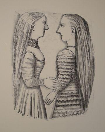 Lithographie Campigli - Due Donne di Profilo