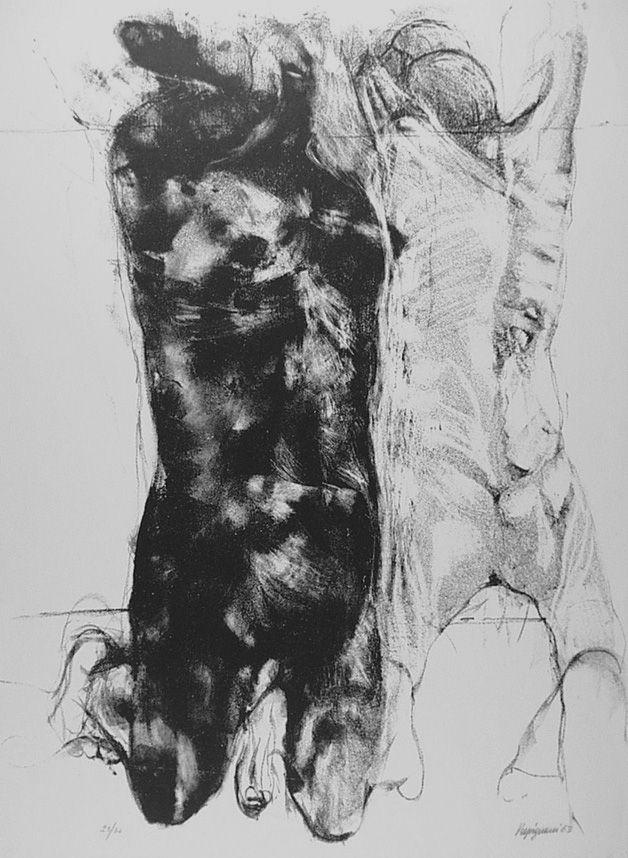 Lithographie Vespignani - Due figure