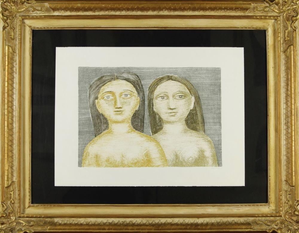 Lithographie Campigli - DUE SORELLE