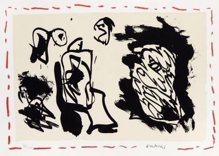 Lithographie Alechinsky - D'une venue