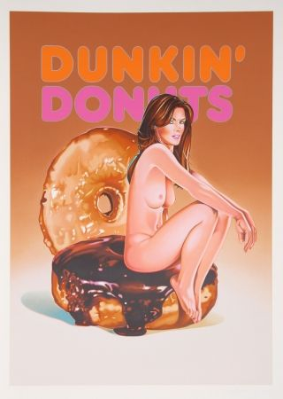 Lithographie Ramos - Dunkin' Donuts (Cindy Crawford)