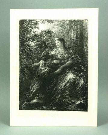 Lithographie Fantin-Latour - Duo des Troyens (6º planche)