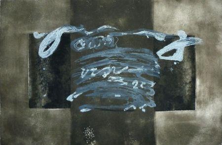 Gravure Tàpies - Dyptique avec croix