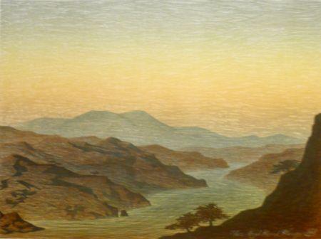 Lithographie Rodrigo - E come arivi grandi si convenne ver lo fiumerea