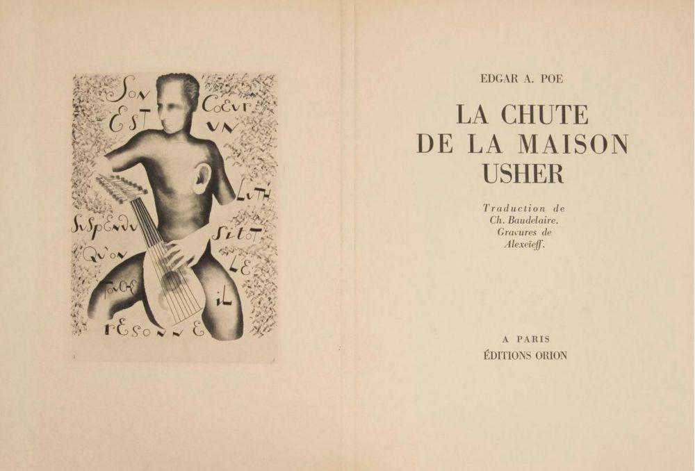 Livre Illustré Alexeïeff - E. Poe : LA CHUTE DE LA MAISON USHER. 10 eaux-fortes originales (1929).