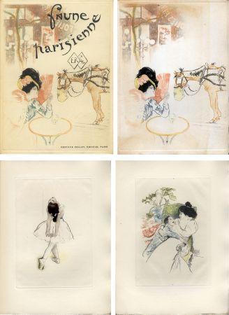 Livre Illustré Legrand - E. Ramiro : FAUNE PARISIENNE. La suite des gravures signées par Louis Legrand (1901)