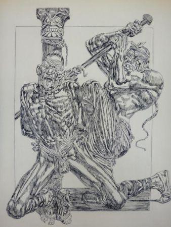 Gravure Freida - Eaux-fortes pour Le jardin des supplices