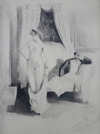 Gravure Ablett - Eaux-fortes pour Nana, par William Ablett