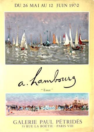 Lithographie Hambourg - Eaux  Galerie Petrides Mai Juin 1970