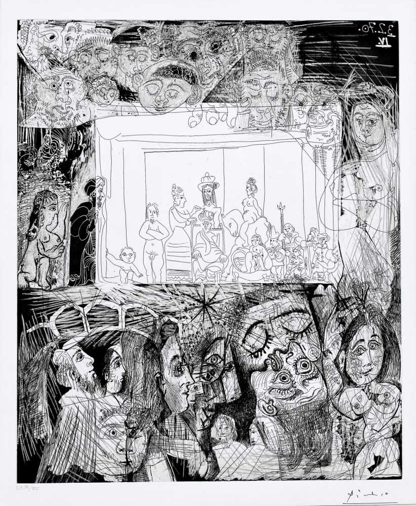 Aquatinte Picasso - Ecce Homo, d'Apres Picasso