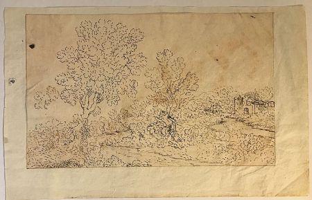 Aucune Technique Anonyme - Ecole française, XVIIe, dans le goût de Claude LE LORRAIN (1600-1682) .  Paysage