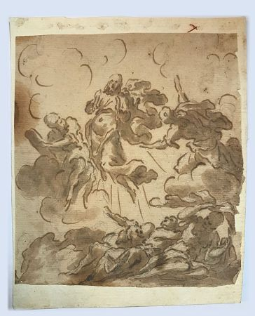 Aucune Technique Anonyme - Ecole italienne, XVIIIe, cercle de Giovanni  PIAZZETTA (1682-1754) .  L'Ascension