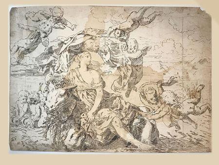 Aucune Technique Anonyme - Ecole italienne, XVIIIe.  L'Enlèvement d'Europe