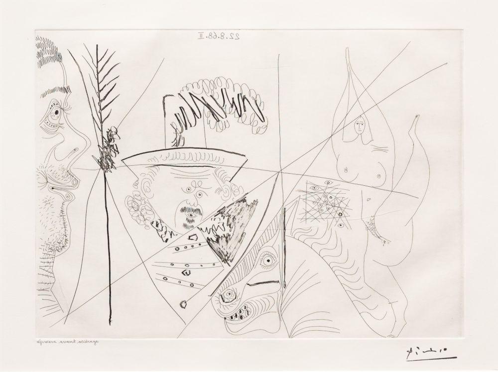 Gravure Picasso - Ecuyere de Cirque