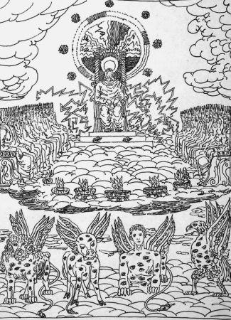 Lithographie De Chirico - ...Ed ecco un trono stava nel cielo...