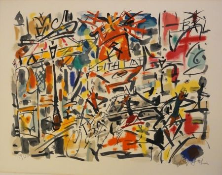 Lithographie Paul  - Edith Piaf