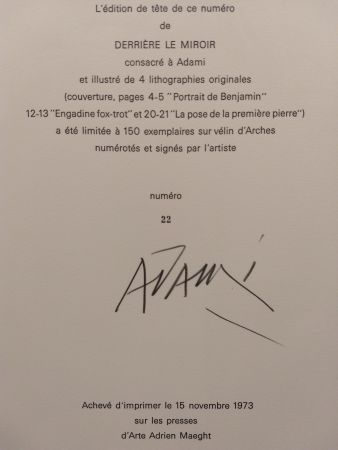 Livre Illustré Adami - Edition Tete DLM 206