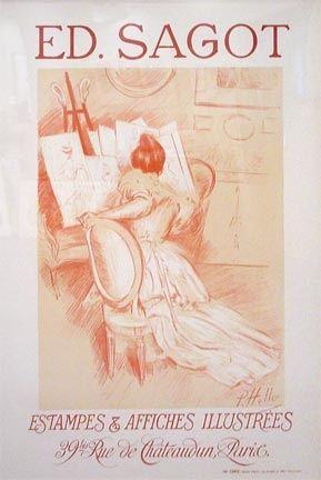 Lithographie Helleu - Editions Sagot-Estamps & Affiches Illustres